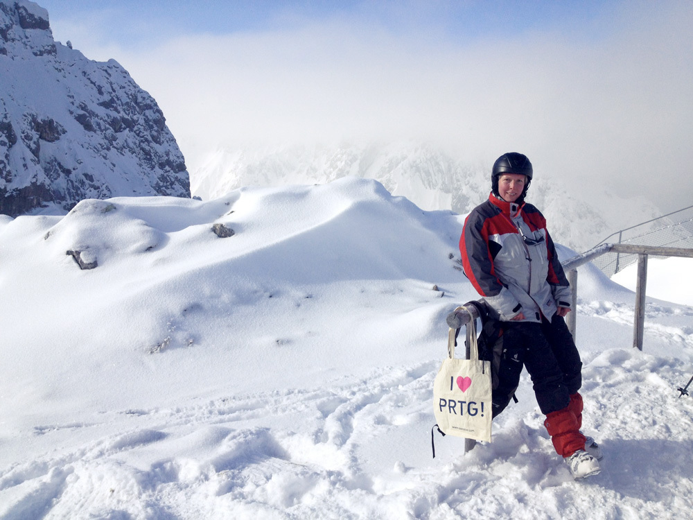 PRTG at Alpspitze, Germany: excellent snow, sun & cloud monitoring!