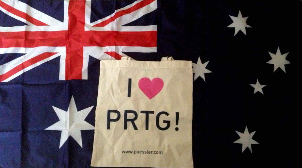 PRTG monitors networks as well in Australia - thanks Aquion!
