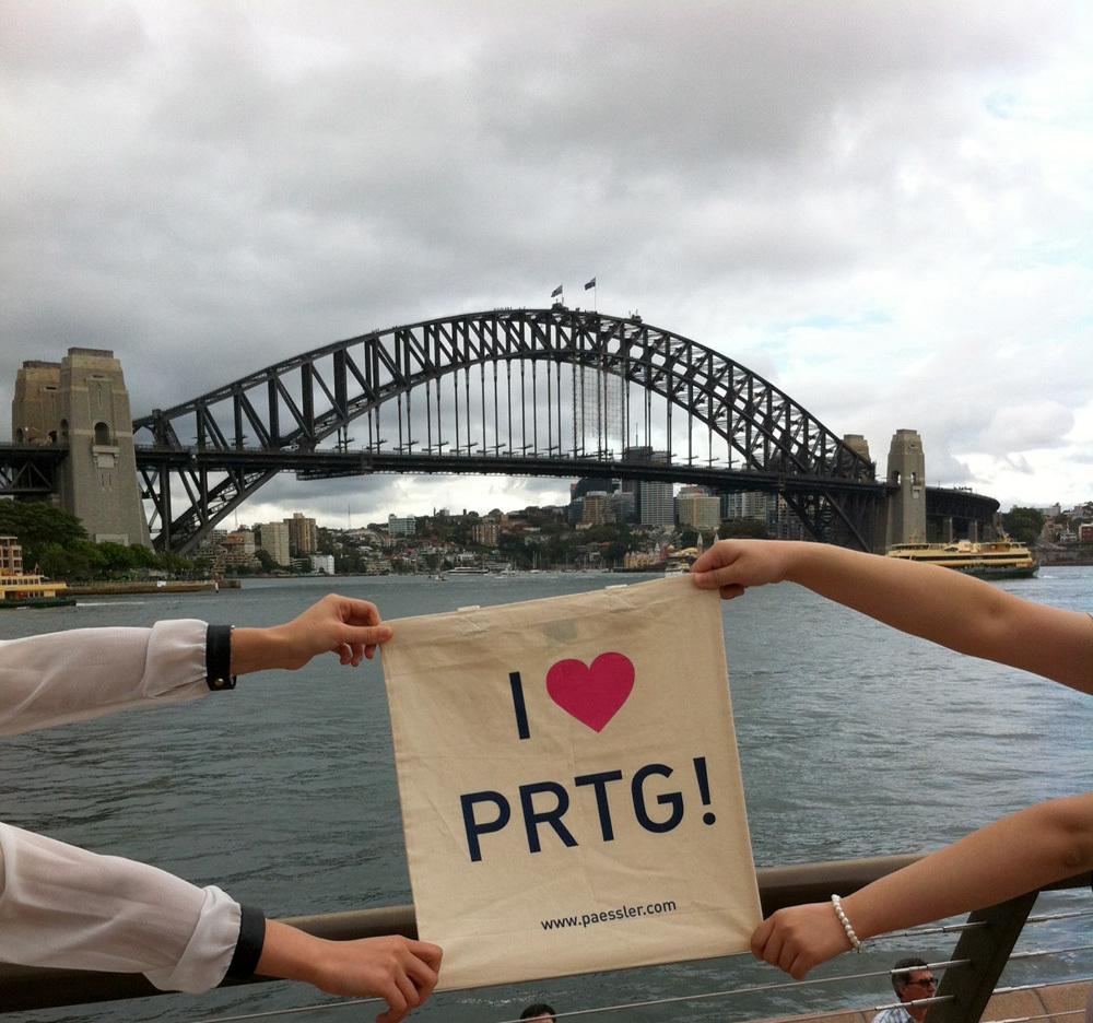 Everything save at Habour Bridge, Sydney, Australia - thanks to PRTG and Aquion!