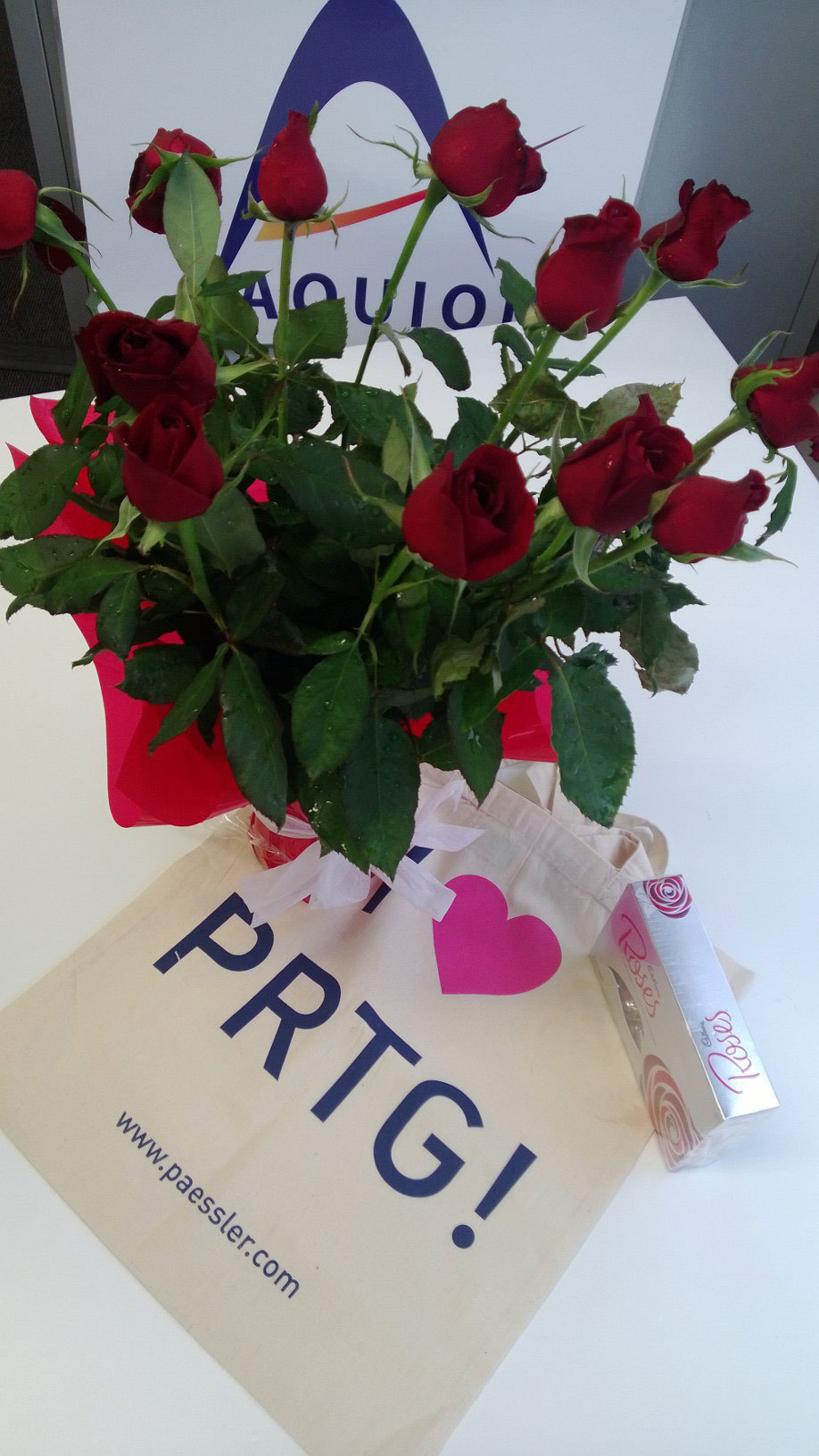 Thanks Aquion for the roses on Valentine's Day!