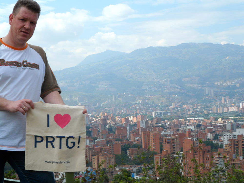 PRTG enjoying the great view over Medellín, Colombia - thanks to P&W Netzwerk GmbH