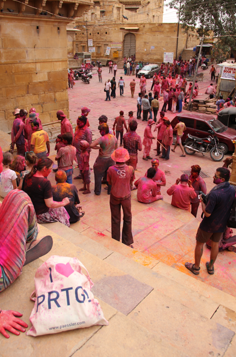 Holi is a spring festival celebrated as a festival of colours — in Jaisalmer, Rajasthan.