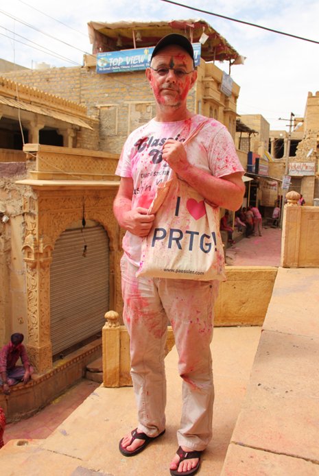 Holi festival - No chance to stay clean — in Jaisalmer, Rajasthan.