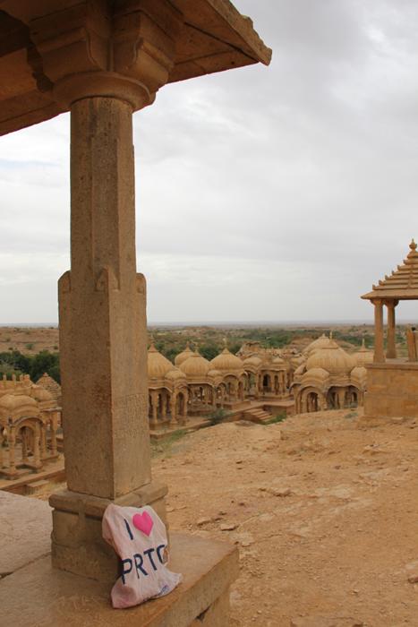 PRTG at Maharajah's cemetery outside Jaisalmer, Rajasthan.