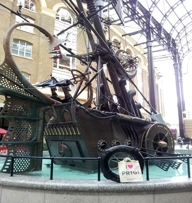 PRTG traveling around the world, seen in London, GB. Thanks Kinross+Render!