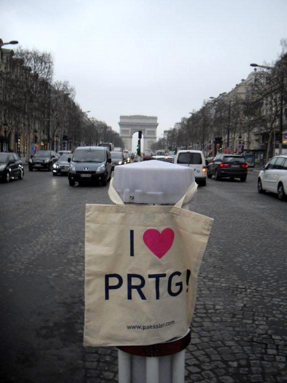 PRTG monitoring the traffic at Champs Elysees - Paris, France
