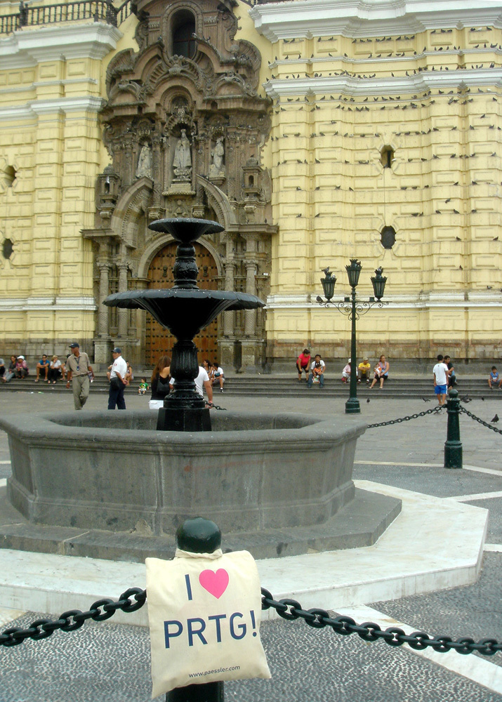 A PRTG bag is monitoring the Monastery of San Francisco in Lima, Peru - Thanks to Danysoft Internacional!