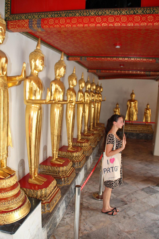 PRTG at fascinating Wat Pho temple at Bangkog, Thailand