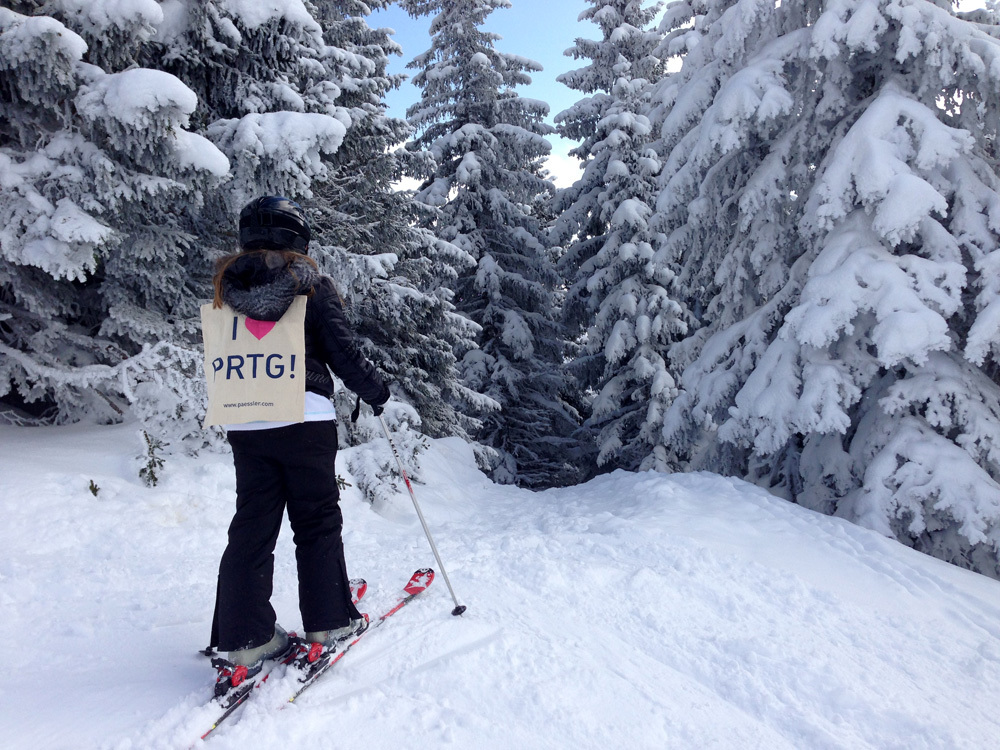 PRTG checking the hidden routes in the snowy forrest at Wagrain/St. Johann, Austria!
