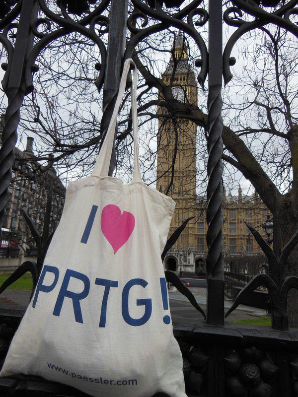 PRTG in London at Big Ben