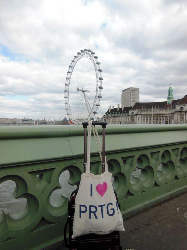PRTG in London at Westminster Bridge