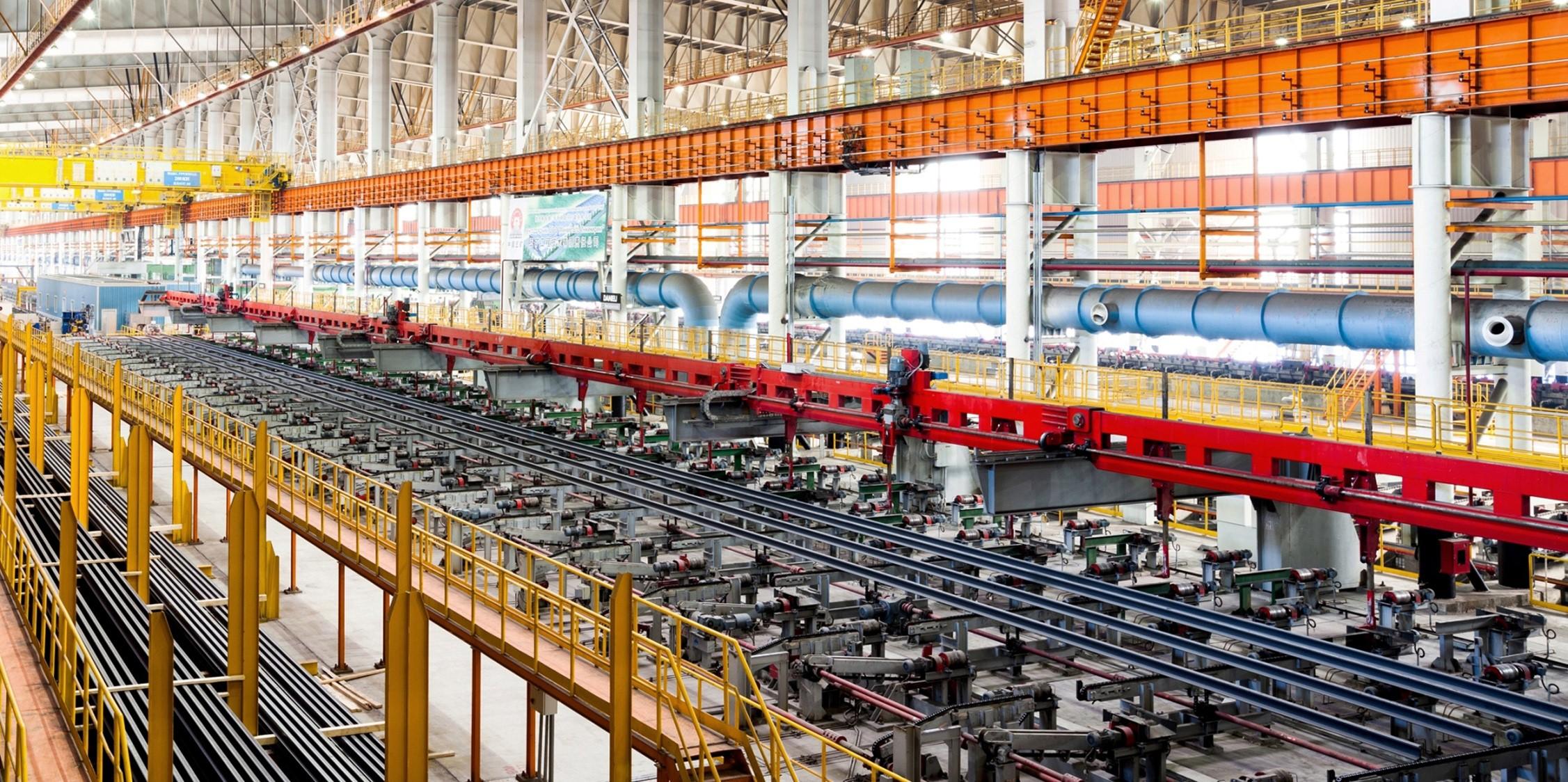 Производство рельсов на Челябинском металлургическом комбинате