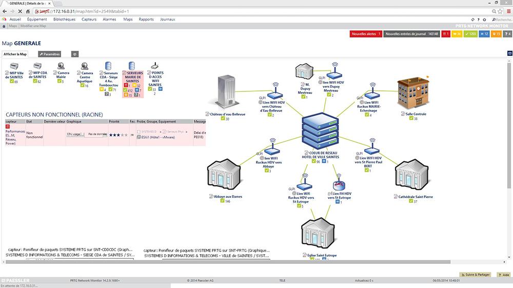 Un aperçu de la carte de l'infrastructure informatique