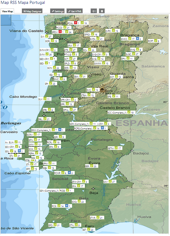 Overview of MLPS Network Across Portugal
