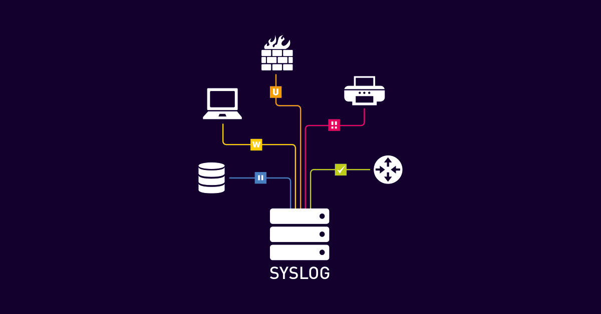 PRTG functions as a free syslog server (Monitoring Topic, application)