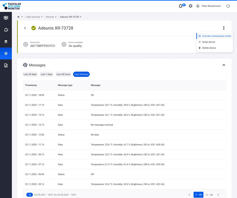 Screenshot device management
