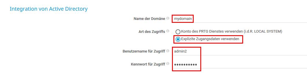 Active Directory Domänen-Details
