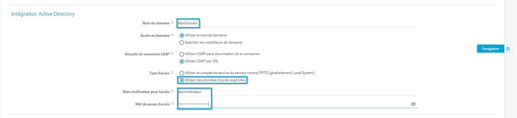 Détails du domaine Active Directory
