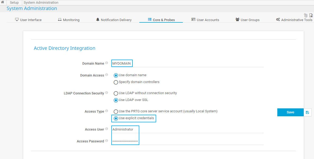 Active Directory domain details