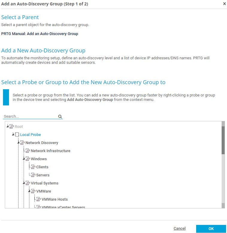 Auto-discovery group