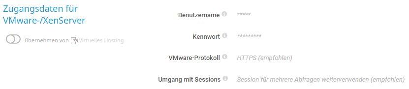 Die ESXi-Gruppe ist eine Untergruppe von VMware und Virtual Hosting