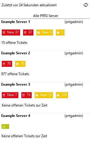 Status aller Server