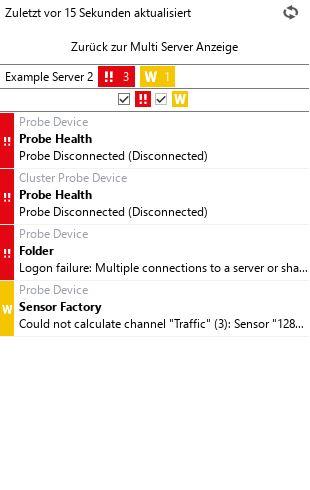 Überblick über einen bestimmten Server