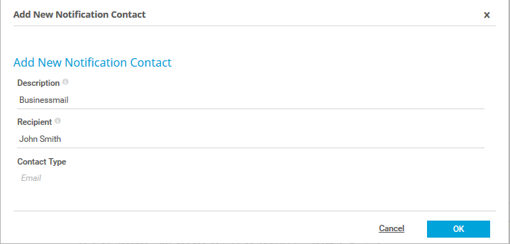 Set up notification contacts