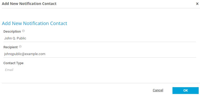 Notification contacts