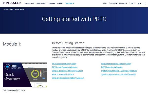 PRTG Getting started