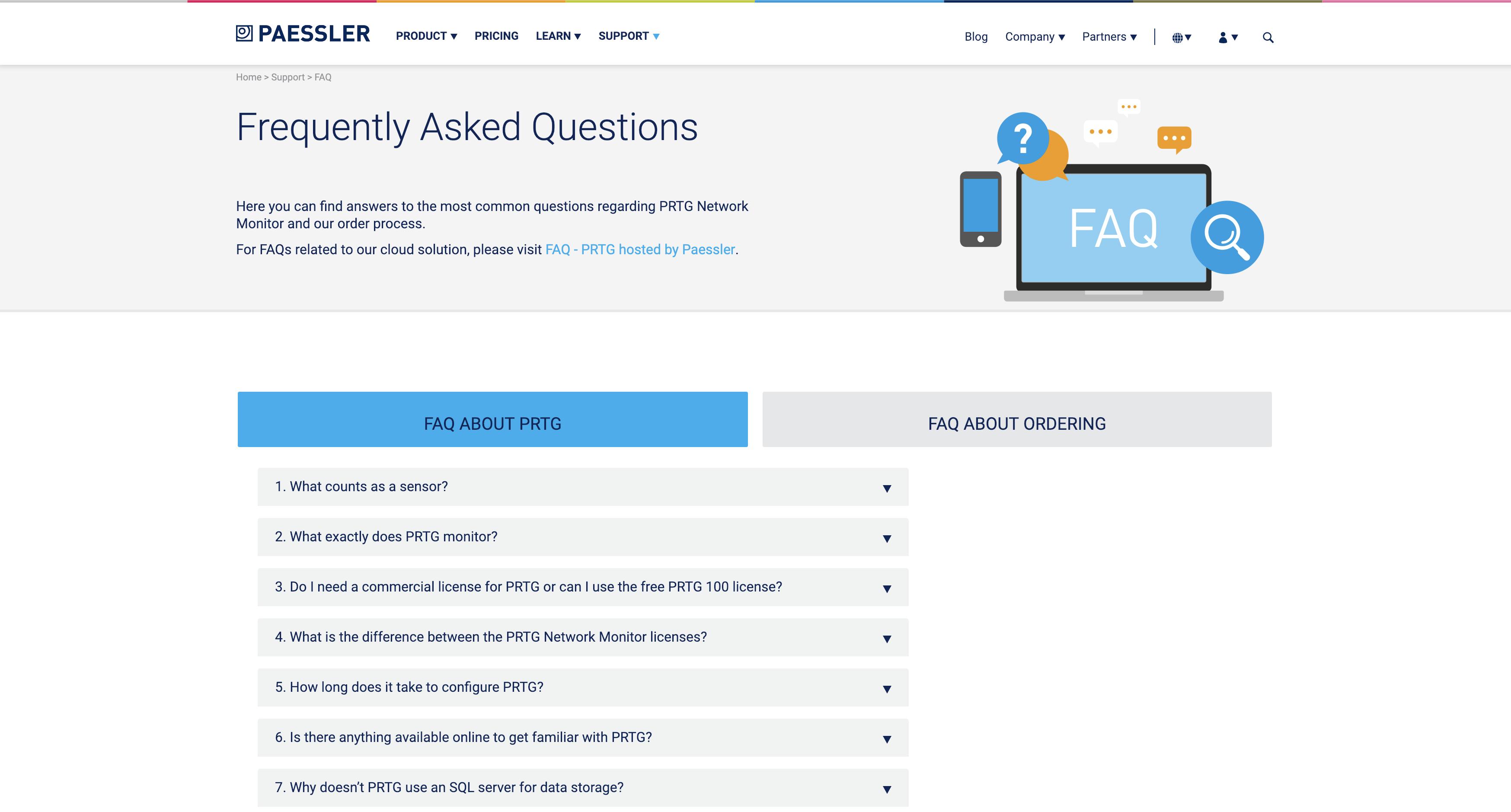 The PRTG FAQ
