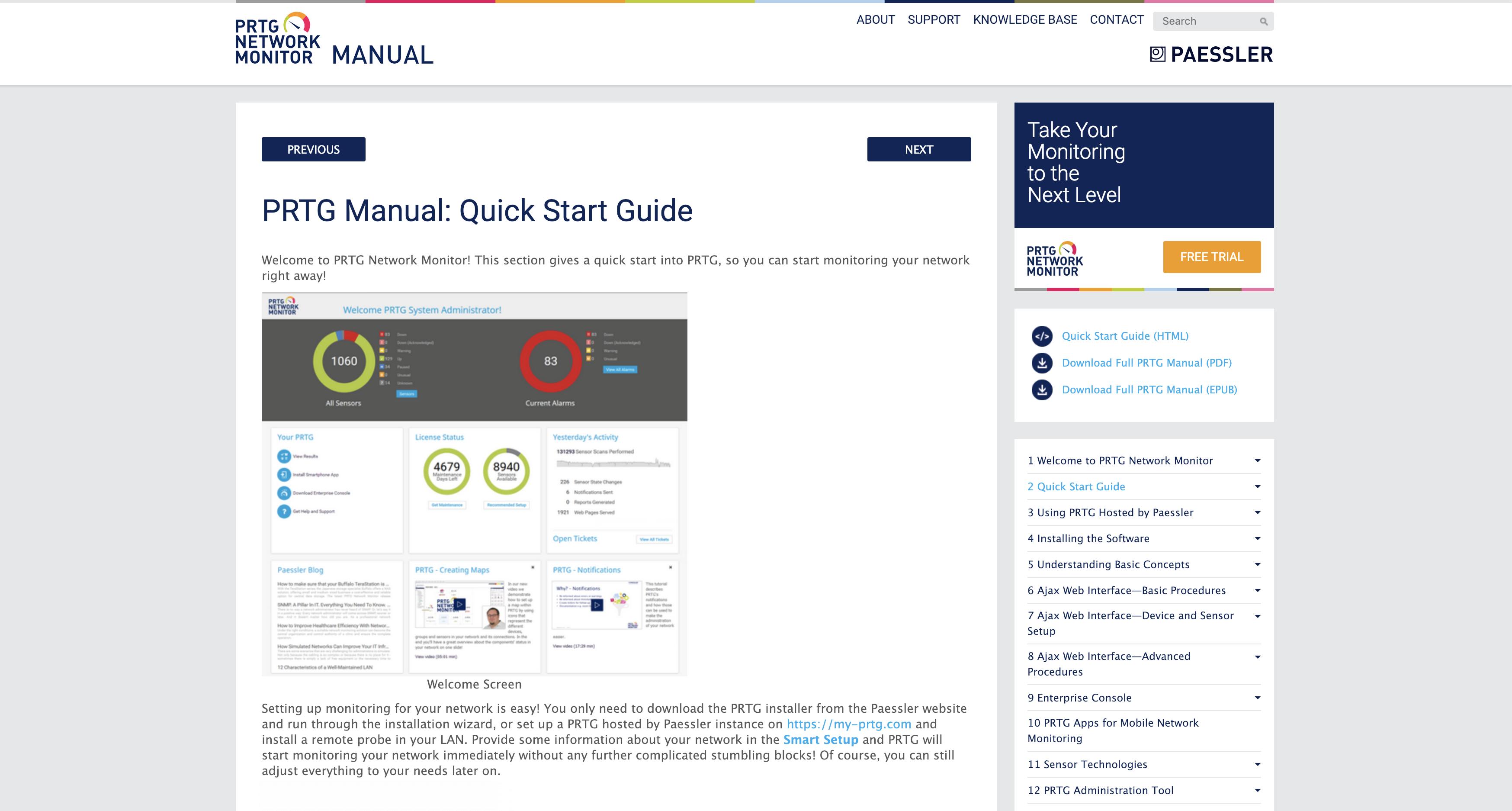 The PRTG Manual
