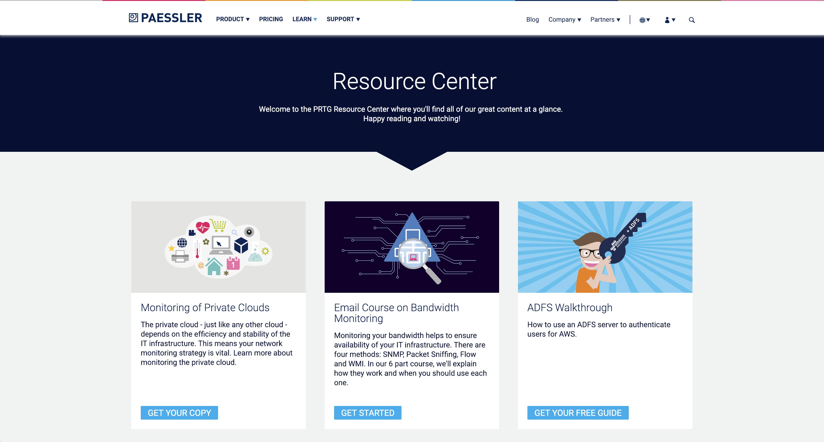Das PRTG Resource Center