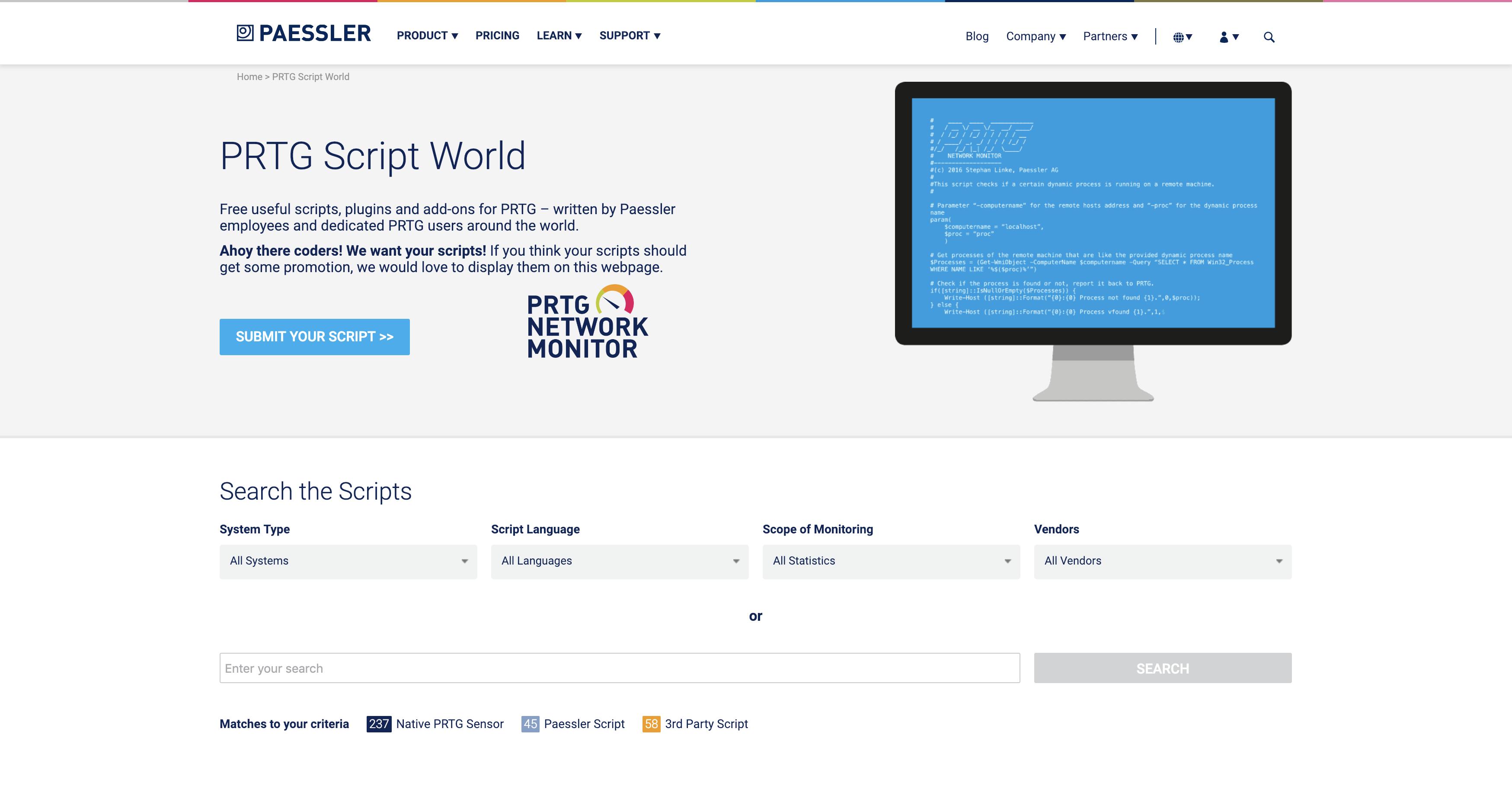 Die PRTG Script World