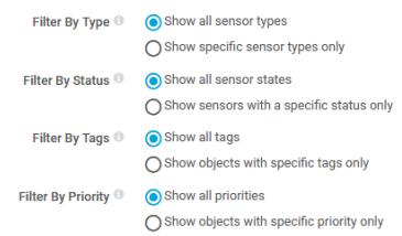 Filtered sensors