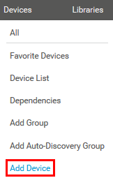 Add a device manually