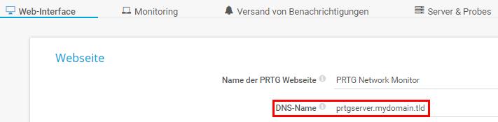 DNS-Namen konfigurieren