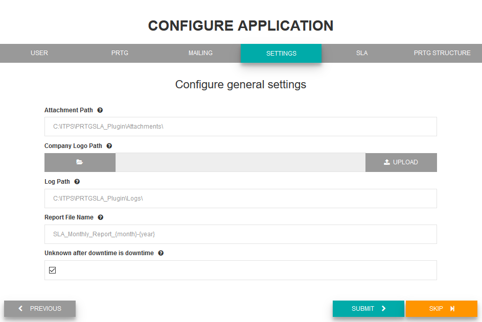 Configure general settings