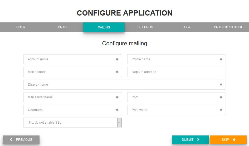 Configure mailing