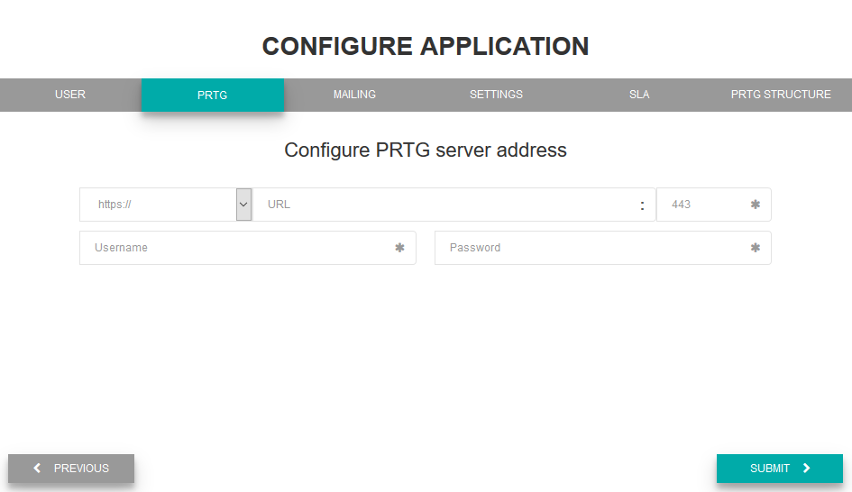 Configure connection to server