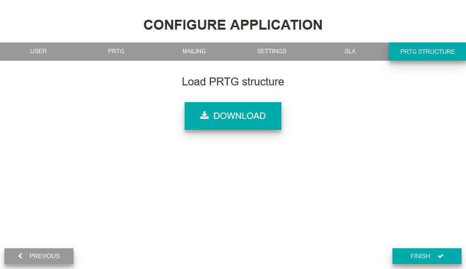 Load PRTG structure