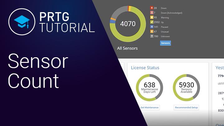 Video: Sensor count in PRTG (Videos, Sensors)