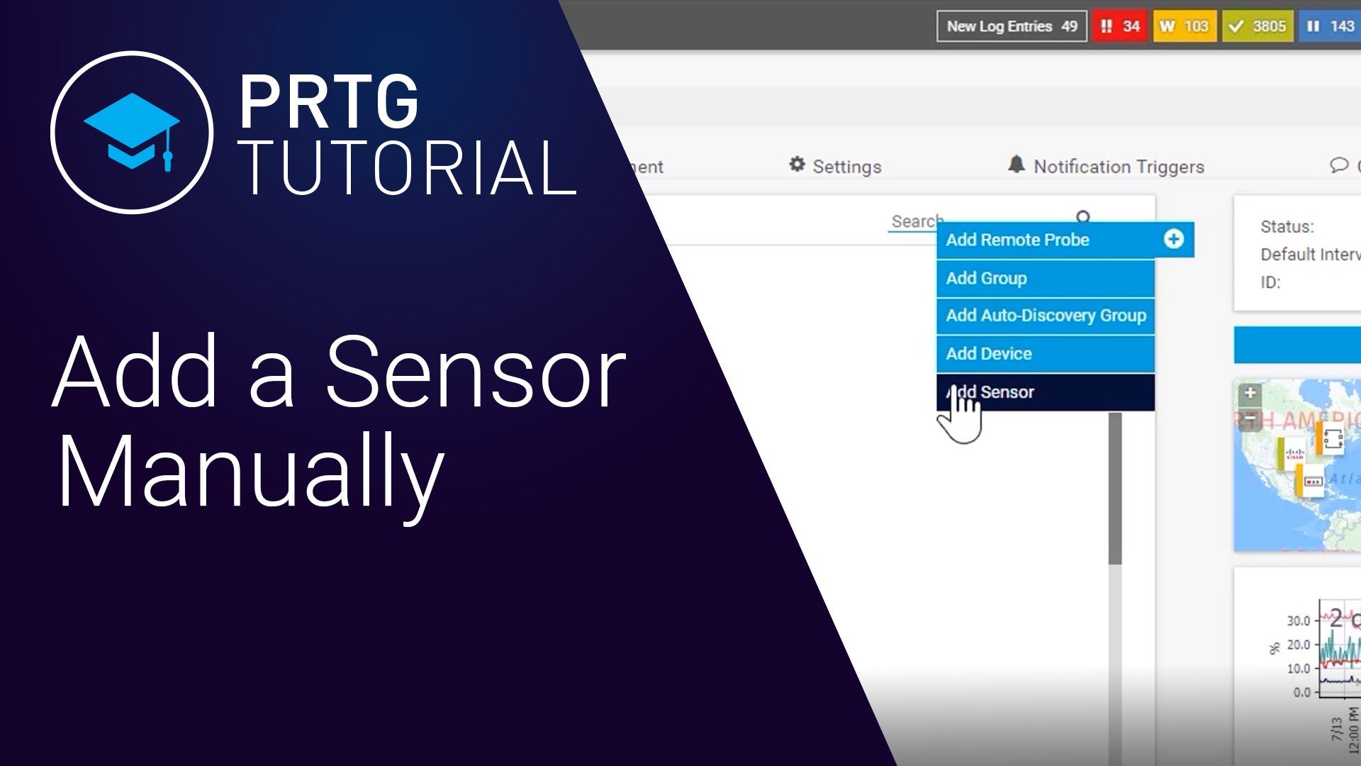 How to Add a Sensor Manually in PRTG (Videos, Sensors)