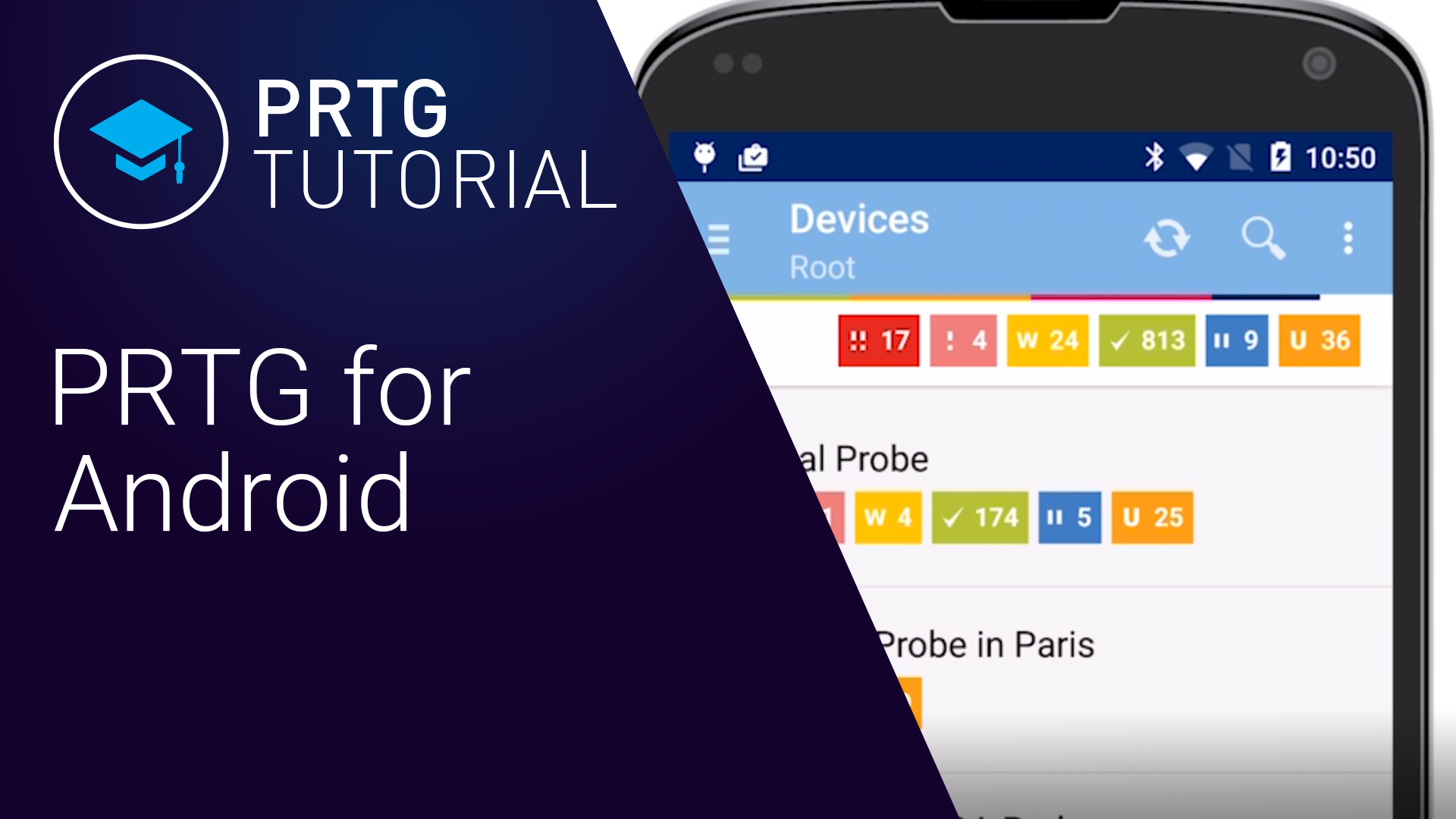 PRTG POUR ANDROID - TUTORIEL (Videos)