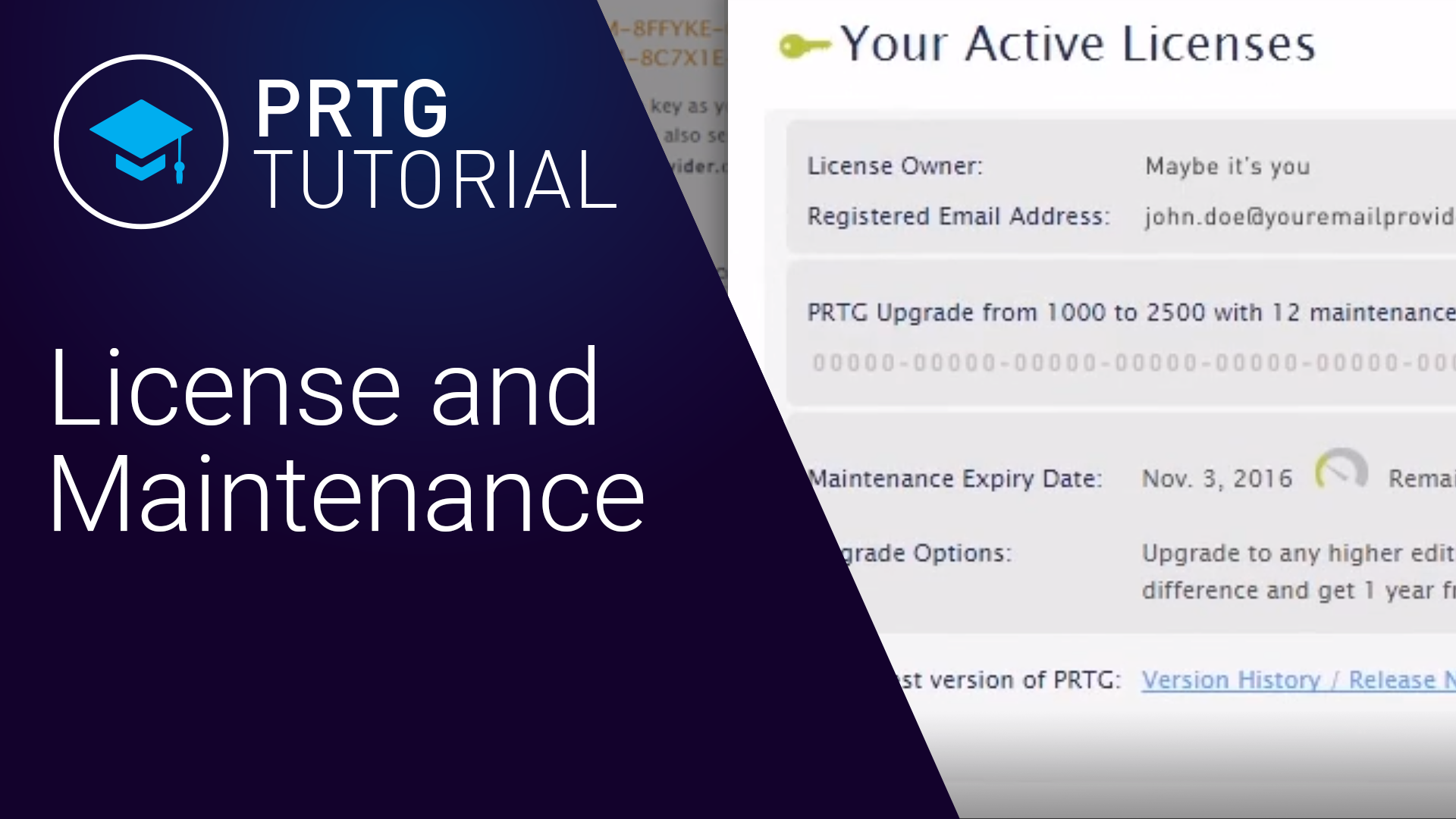 PRTG LICENCE ET MAINTENANCE (Videos, Overview)