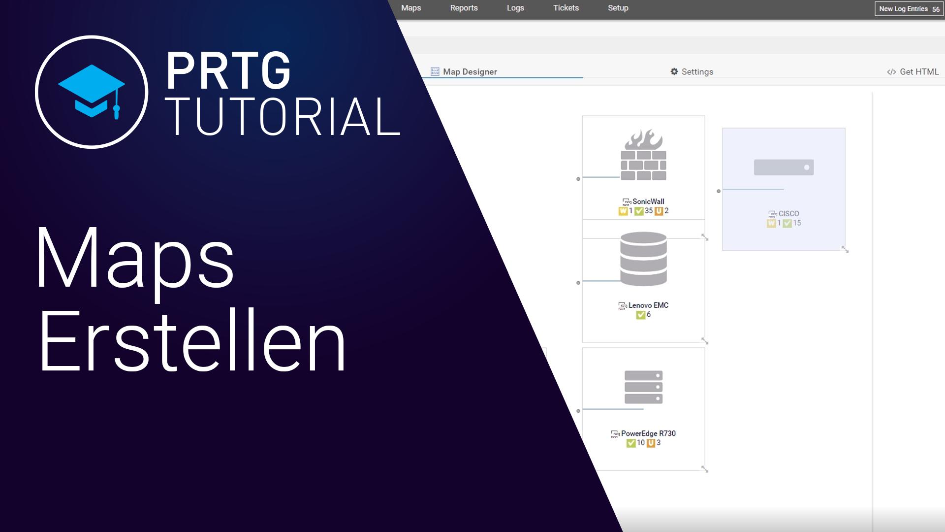 PRTG Network Monitor - Maps erstellen (Videos)