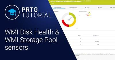 Video: WMI Disk Health & WMI Storage Pool sensor (Videos, Sensors)