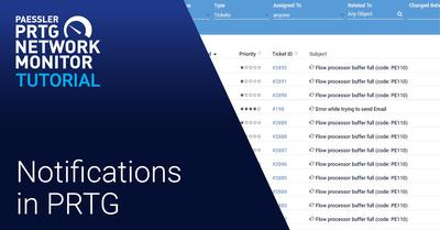 Video: Notifications in PRTG (Videos, Notifications, Setup)