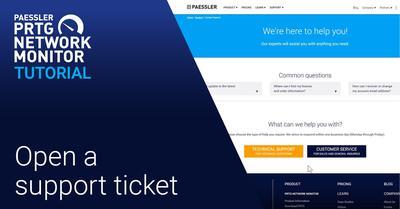 Video: Support ticket in PRTG (Videos, Tickets)