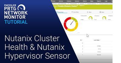 Video: Two SNMP Nutanix sensors (Videos, Sensors)
